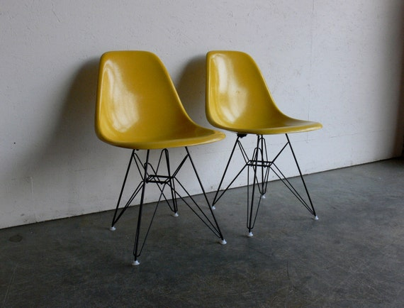 Herman Miller Eames Eiffel Side Chairs (Set of 2)-Free Shipping