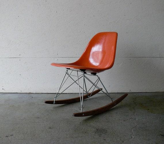 Eames For Herman Miller Fiberglass Side Chair Rocker By CoMod