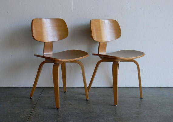 RESERVED-Vintage Mid Century Modern Thonet Plywood Chair (Set of 2)