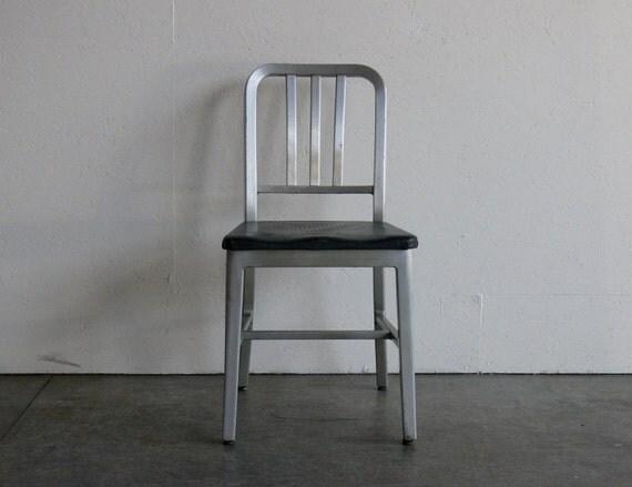 Vintage Goodform Aluminum Side Chair-Mid Century Modern