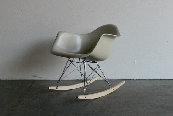 Eames for Herman Miller Fiberglass Arm Chair Rocker-RAR