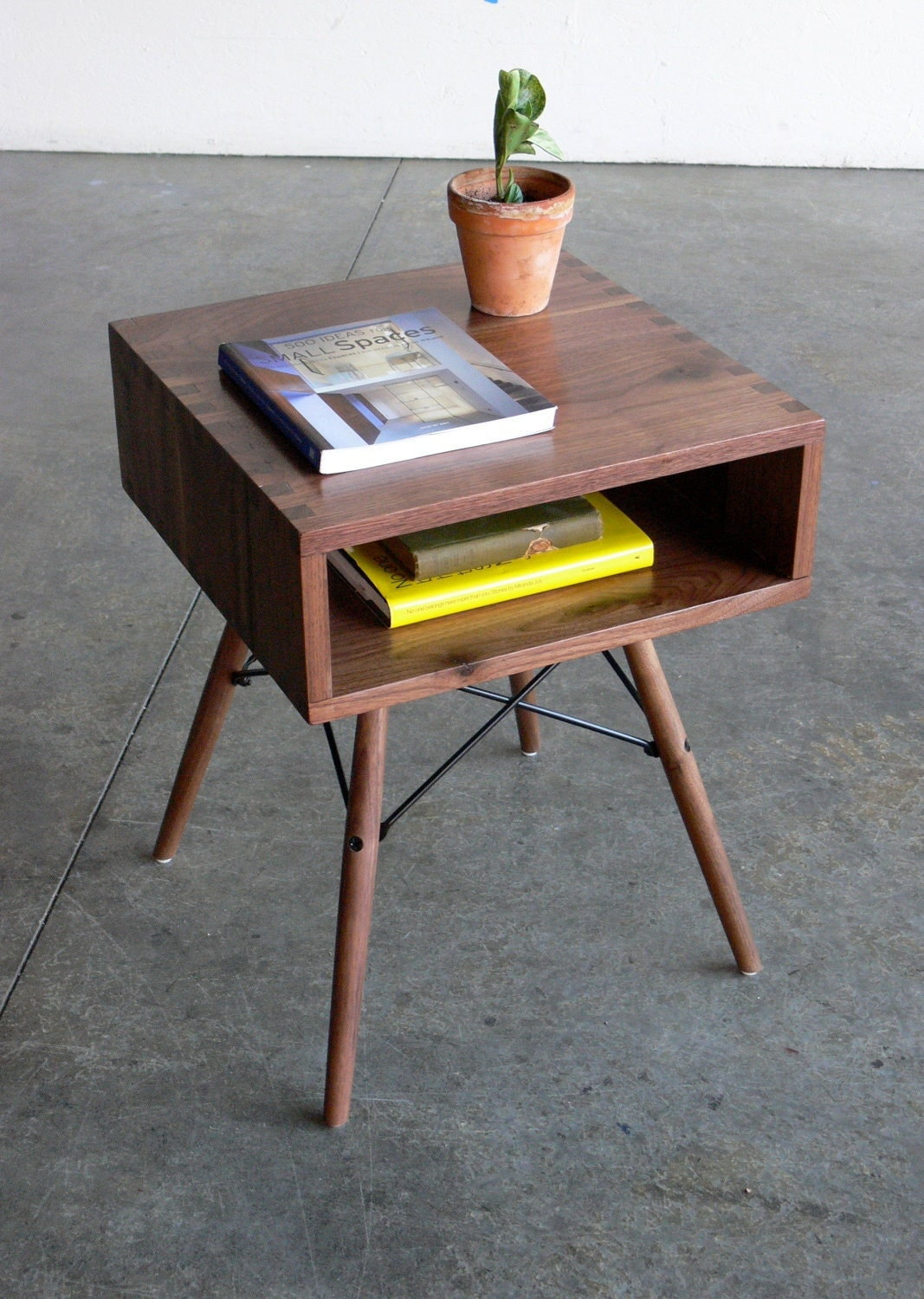 Reserved listing mid century modern inspired side table Modern side table