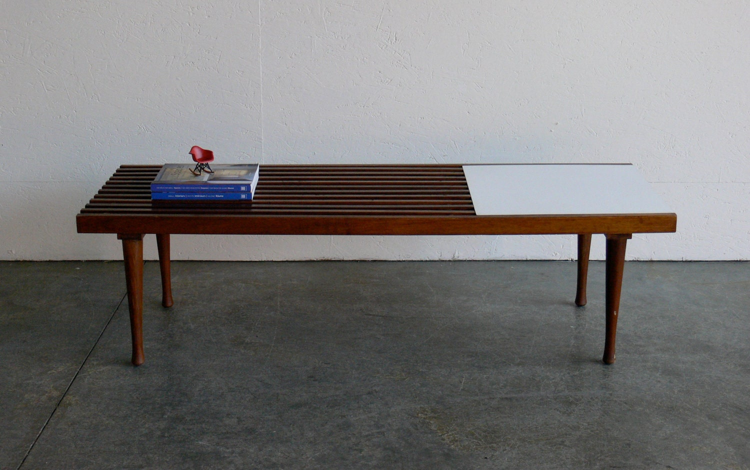 Reserved Vintage Mid Century Modern Slat Bench Coffee Table