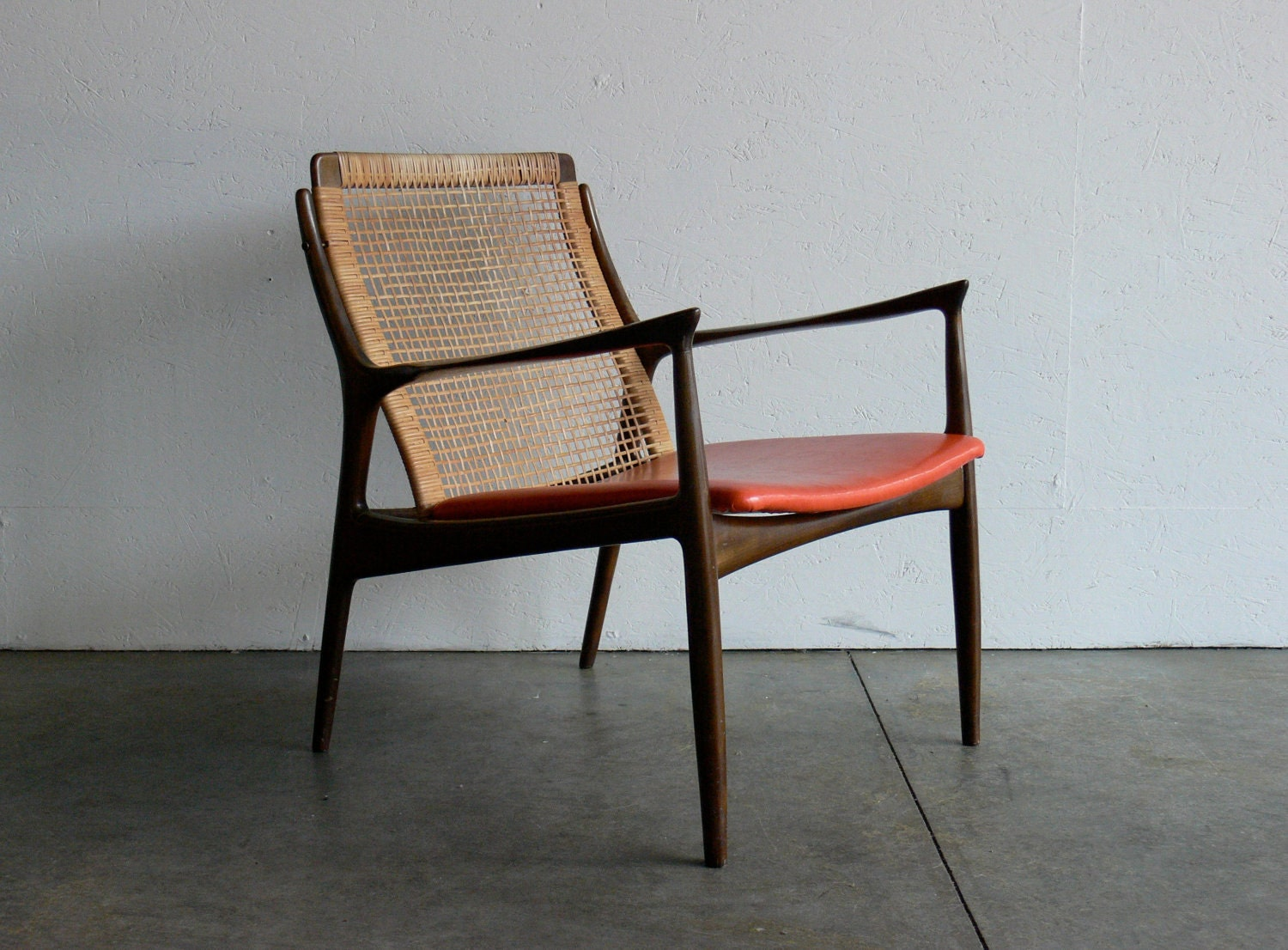 vintage mid century modern danish lounge chair. Black Bedroom Furniture Sets. Home Design Ideas