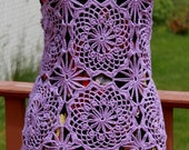 Ready to ship Lilac colour Pure Silk Chic  Layer Top