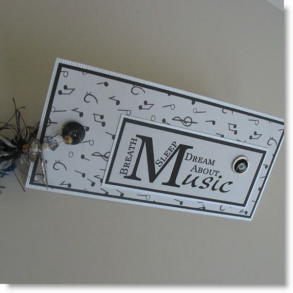 CLEARANCE Paper Bookmark: Handmade Paper Musical Bookmark  - Music Lover