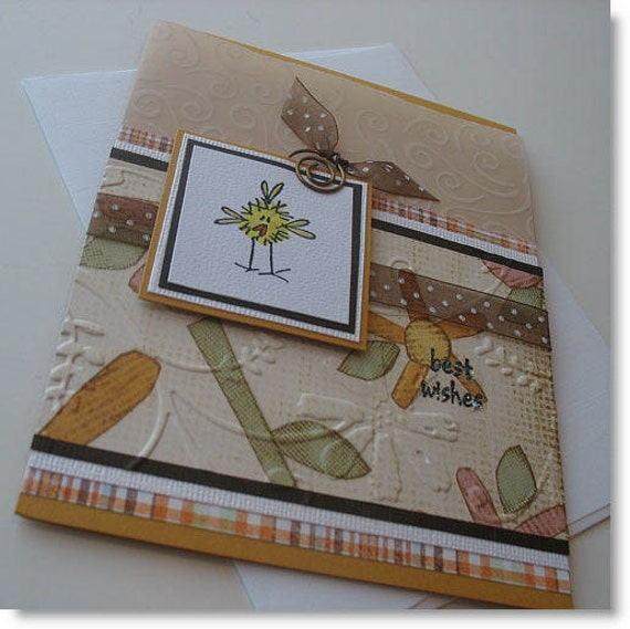 Get Well Greeting Card:  Handmade Blank Note Card (Batch No.2) - Best Wishes
