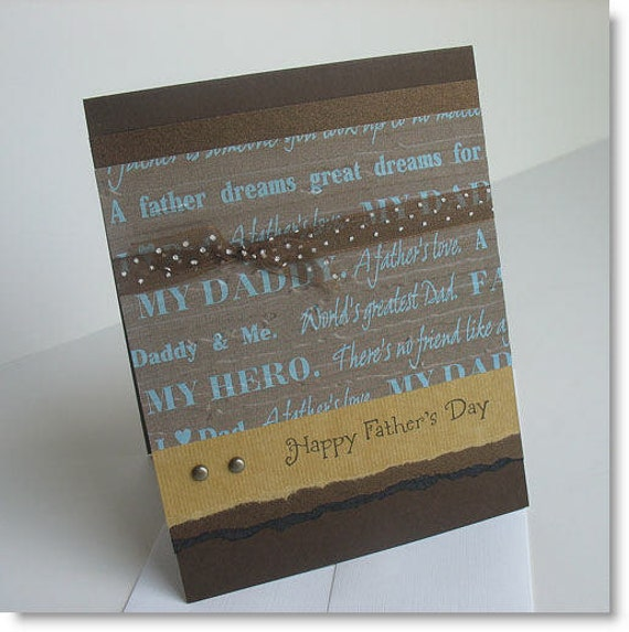 Father's Day Greeting Card:  Handmade Blank Note Card - My Hero