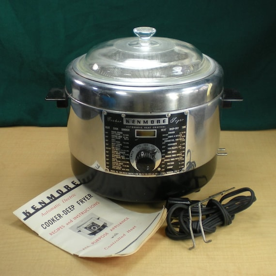 Sears Kenmore Chrome Electric Cooker Deep Fryer By