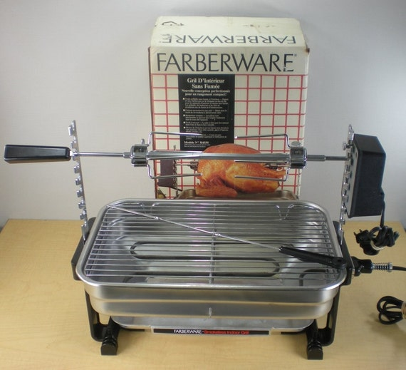 Farberware Open Hearth Broiler Rotisserie Grill By