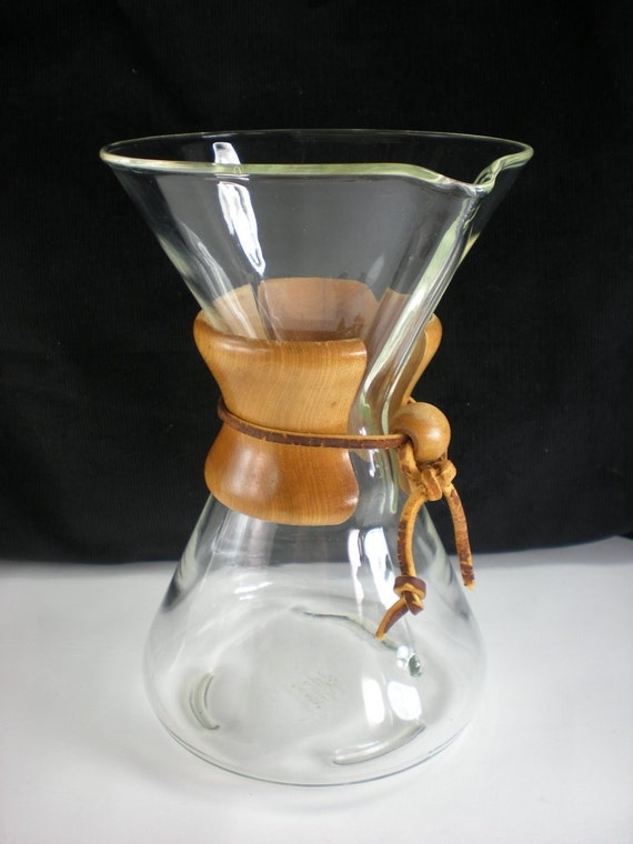 Pyrex Coffee Maker How To Use : Pyrex Chemex Glass Vintage Drip Coffee Maker Filter Green Logo