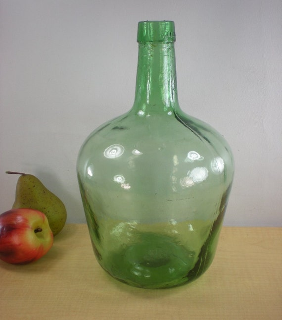 viresa wine jug bottle mottled green glass 4 liter. Black Bedroom Furniture Sets. Home Design Ideas