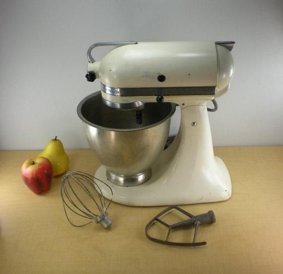 Kitchenaid Hobart K4 B Vintage Mixer White