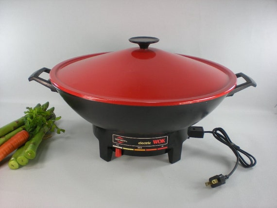 Red West Bend Electric Wok 6 Quart 79525