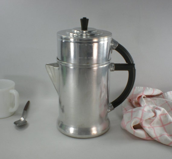 1930s Wear Ever No. 956 Drip Coffee Maker Aluminum Stove Top