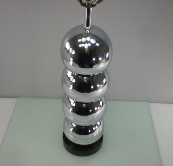 1960 70s Retro Chrome Stacked Ball Orb Bubble Lamp