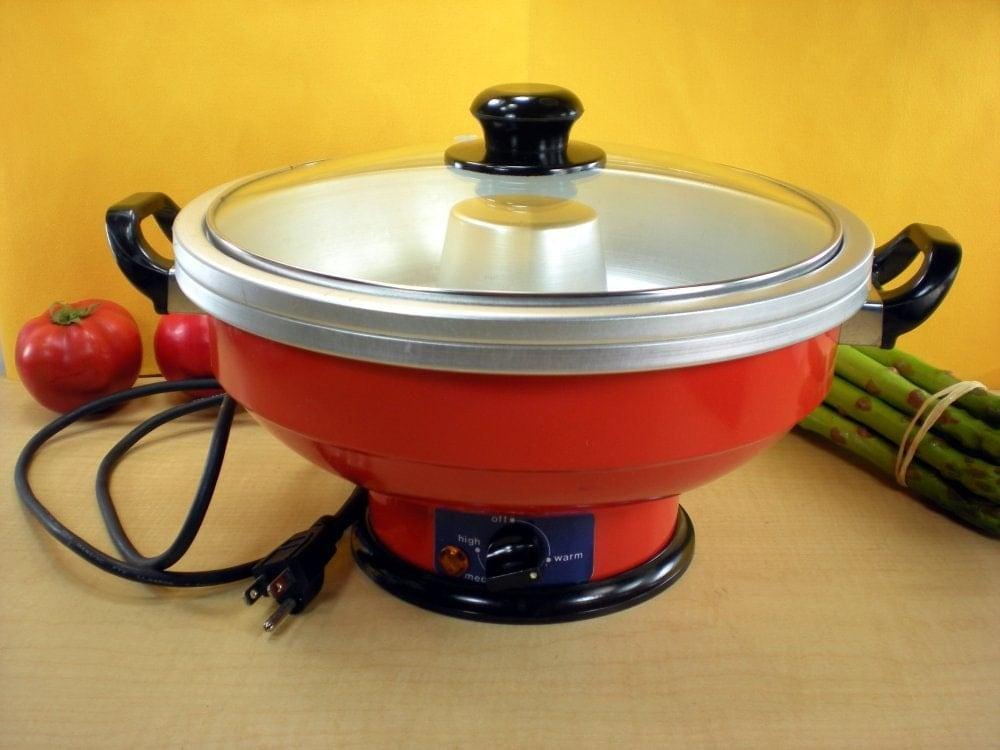 shabu shabu electric pot cooker by oldekitchen on etsy
