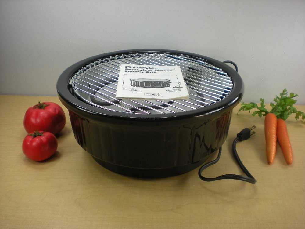 Rival Stoneware Smokeless Indoor Electric Crock By