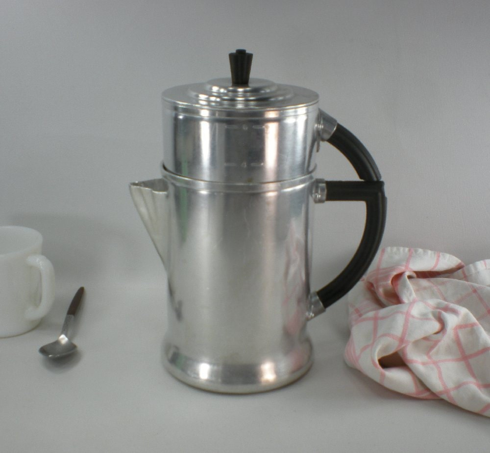 1930s Wear Ever No 956 Drip Coffee Maker Aluminum Stove Top