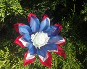 July 4th Patriotic Red, White and Blue Flower Clip