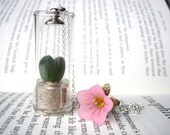 SALE Pet tree plant necklace Sweet Heart cactus