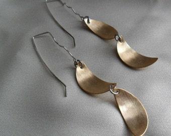 Earrings  Brass Half Moon Dangle Earrings
