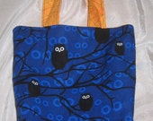 Spooky owl and spider Halloween trick or treat bag