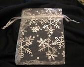 Snowflake Organza Bags - 15 piece - 9 x 12 cm