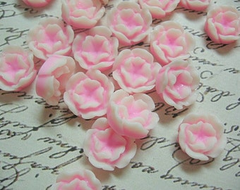 Baby Pink Resin Flower Cabochons 13mm