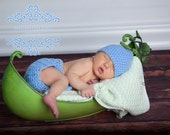 Pea Pod Hat/Diaper cover-Newborn Set