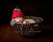 Baby Apple Hat-0-12 months
