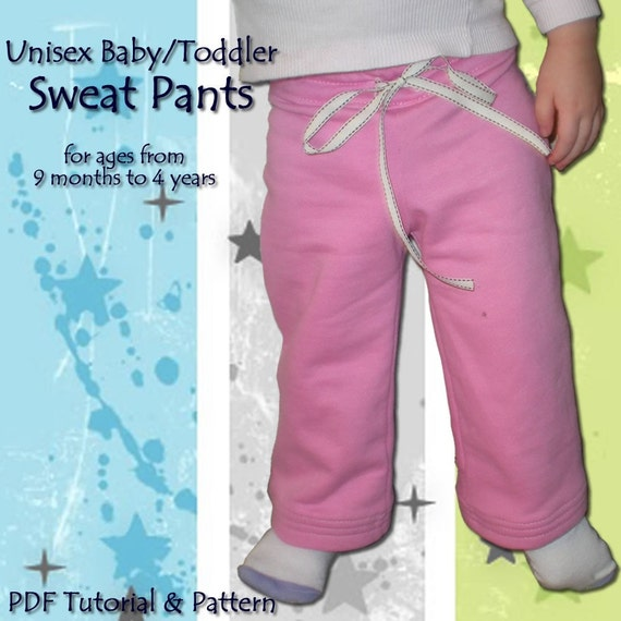 Unisex Baby/Toddler Sweat Pants - Tutorial and Pattern