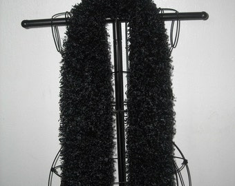 Soft, Furry Black Scarf...also available in white, cream, and brown