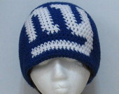 New York Giants Handmade Crochet Beanie