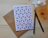 Not So Complex Geometries M.C. Escher Style Card in Grey and Purple