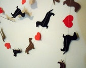 Dachshund Love Paper Garland - Valentine's Day Decor - Choose Your Colors