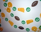 Green Bay Packers Themed Paper Garland