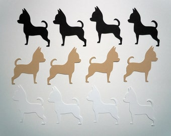 Chihuahua Scrapbook Cutouts- 36 Piece Set
