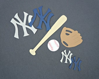 New York Yankees Baseball Scrapbook Cutouts - 31 Piece Set