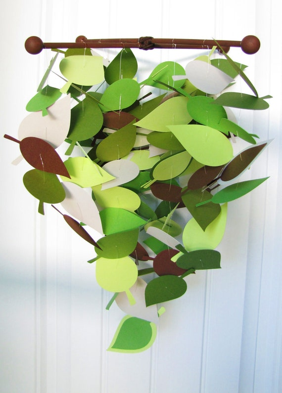 Baby Mobile Cascading Leaves in Spring