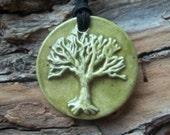 Tree of Life stoneware clay Necklace