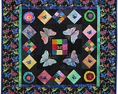 Blossoms and Butterflies Quilt Wall Hanging Pattern by Just Imagine Design