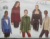 Misses' Jacket Vogue 2615 Sewing Pattern UNCUT Sizes 8, 10, 12
