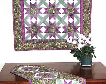 Star Block Tablerunner and Wallhanging Quilt Pattern by Just Imagine Design