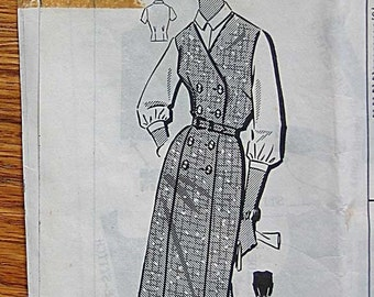 RARE Vintage Misses Jumper and Blouse, Mail Order Sewing Pattern 1-404, Size 16 1/2, Bust 37""