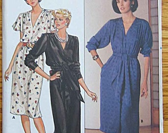 Misses' Pullover Dress in 2 Lengths, Evening Gown, Butterick 6755 Pattern UNCUT Sizes 14-16-18