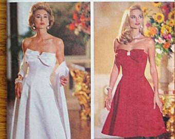 Joan Leslie Misses' Evening Dress, Jacket, Stole, Butterick 6526 Pattern UNCUT  Sizes 12-14-16