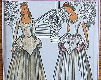 Misses' Retro Collection Bridal Gown, Wedding Dress, Simplicity 8886 Pattern UNCUT Sizes 6, 8, 10, 12