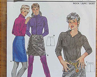Misses' Short Skirts, Burda 4736 Sewing Pattern UNCUT Sizes 8-18