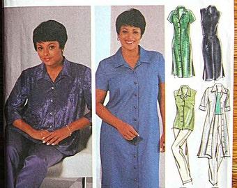 Women's Design Your Own Shirt-Dress in 2 Lengths, Shirt, Skirt, Pants Simplicity 5769 Sewing Pattern UNCUT Sizes 18W-24W